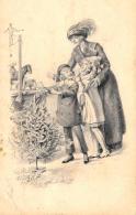 [DC11401] CPA - BAMBINI CON GIOCATTOLI E MAMMA - Viaggiata 1915 - Old Postcard - Bambini