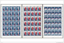 Belgium 1290/92**  Centenaire Socialiste - Feuilles - Sheet  MNH - Full Sheets