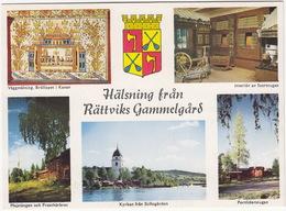 Rättviks Gammelgard - Väggmalning. Bröllopot I Kanan, Storstugan, Kyrkan, Portliderstugan, Majstangen - (Sweden) - Zweden