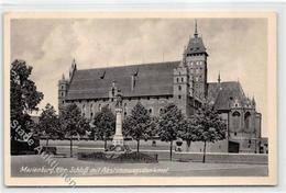 39115831 - Marienburg / Malbork In Westpreussen. Schloss Abstimmungsdenkmal. 1943 Feldpost Leichter Bug Oben Links, Son - Poland