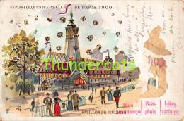CPA LITHO EXPOSITION UNIVERSELLE DE PARIS 1900 PAVILLON DE FINLANDE ( MAUVAIS ETAT - BAD CONDITION !  ) - Expositions