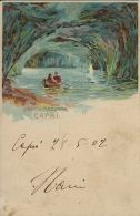 CAPRI GROTTA AZZURRA 1902 LITHO ART SIGNED - Altre Città