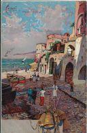 CAPRI MARINA GRANDE 1907 ART SIGNED LITHO - Altre Città