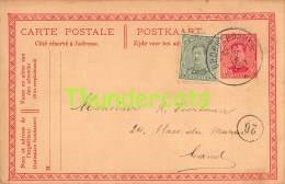 CPA POSTKAART CARTE POSTALE 1921 CIRKELSTEMPEL GROBBENDONCK - Entiers Postaux