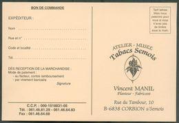 TABAC Belgique - Ensemble De Factures Et Documents Dt Carte De Visite Et BOn De COmmande VINCENT MANIL Manufacture De Ta - Visiting Cards