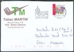 TABAC Belgique - Enveloppe à Entête TABAC MARTIN PIPE Magasin  Rue De France à BOHAN Sur Semois - 12444 - Tabac