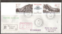 1 - TAAF PA94A Du 1.1.1986 Terre Adélie 1ere Date D' Utilisation Sur Pli Recommandé. - Terres Australes Et Antarctiques Françaises (TAAF)
