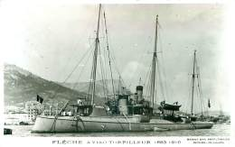 BATEAUX.N°26363.CP PHOTO MARIUS BAR.FLECHE AVISO TORPILLEUR 1883 1910 - Bateaux