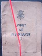 DH. 48. Livret De Mariage De Nestor Joseph Louis Houx Né à Stambruges En 1890 époux De Amélie Julie Duelz Née En 1890 - Historical Documents