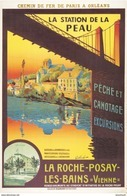 Chemin De Fer De P.O. La Roche-Posay-les-Bains (Vienne ) Péche-Canotage - Postcard Reproduction - Publicité