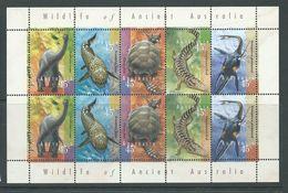 Australia 1997 Pre-Historic Animals Strips Of 5 X 2 In Sheet Format MNH - 1990-99 Elizabeth II