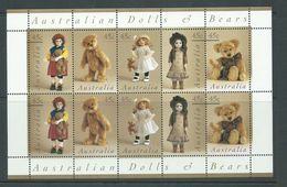 Australia 1997 Dolls & Bears Strips Of 5 X 2 In Sheet Format MNH - 1990-99 Elizabeth II