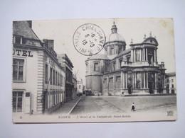 BELGIQUE NAMUR L'Hotel Et La Cathédrale Saint-Aubin  1918 T.B.E. Cachet Postes Militaires - Namur