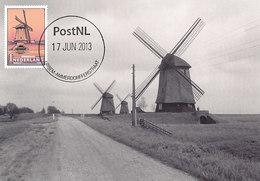 D32382 CARTE MAXIMUM CARD FD 2013 NETHERLANDS - MILL MOULIN URSEM SCHERMER CP ORIGINAL - Moulins