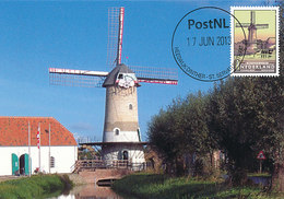 D32383 CARTE MAXIMUM CARD FD 2013 NETHERLANDS - MILL MOULIN KILSDONKSE MOLEN HEESWIJK-DINTHER CP ORIGINAL - Moulins