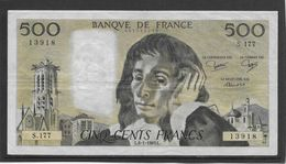 France 500 Francs Pascal - 6-1-1983 - Fayette N°71-28 - SUP - 1962-1997 ''Francs''