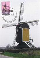 D32384 CARTE MAXIMUM CARD FD 2013 NETHERLANDS - MILL MOULIN ST. HUBERTUS BEEK LIMBURG CP ORIGINAL - Moulins