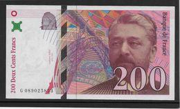 France 200 Francs Eiffel - 1999 - Fayette N°75-5 - NEUF - 200 F 1995-1999 ''Eiffel''