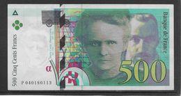 France 500 Francs Pierre Et Marie Curie - 1998 - Fayette N°76-4 - SPL - 1992-2000 Last Series