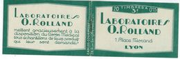 France, Carnet Semeuse 15ct Yvert, N° 189 C2 Laboratoires O.Rolland Lyon, Résyl Asceine Antiseptique - Carnets