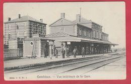Gembloux - Vue Intérieure De La Gare ... Cheminots - 1908 ( Voir Verso ) - Gembloux
