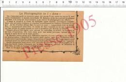 Humour De 1905  Photographie De L'âme Rayons N De M. Baraduc Effluves Pet  216PF10G - Vieux Papiers