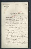 LETTRE DE 1896 M A GAUTHIER NOTAIRE À COULLONS LOIRET : - Manuscrits