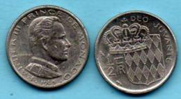 R50/  MONACO  1/2 Franc 1965 - 1960-2001 Nouveaux Francs