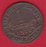 France 1 Centime 1916 - Type Dupuis - France