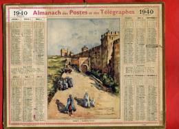 ALMANACH DES POSTES ET TELEGRAPHES 1940 RABAT MAROC PALAIS DU SULTAN IMPRIMEUR OBERTHUR - Calendriers