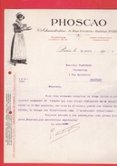 FACTURE DE GUERRE 1917 PHOSCAO 9 RUE FREDERIC BASTIAT A PARIS - 1900 – 1949