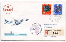 RC 6697 PAYS-BAS KLM 1962 1er VOL ZURICH - KANO NIGERIA FFC NETHERLANDS LETTRE COVER - Airmail