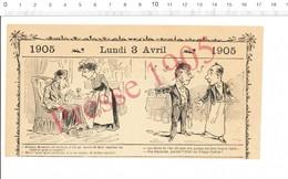 2 Scans Humour 1905 Potage De Tortue / Théatre Opéra Dame Blanche Domino Noir 216PF10H - Vieux Papiers