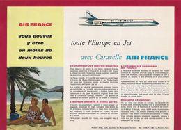 Dépliant Touristique.  Toute L'Europe Avec Caravelle Air France. - Dépliants Touristiques