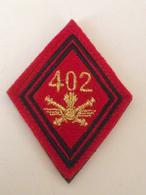 Losange De Bras Neuf! Velcro Haute Visibilité  402ème RA Régiment Artillerie Sol Air Armée De Terre - Uniformes