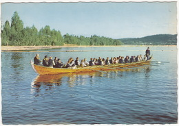 Dalarna - Kyrkbat Med Leksandsfolk - (Sweden) - Zweden