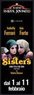 ITALIA - SEGNALIBRO / BOOKMARK - TEATRO AMBRA JOVINELLI - SISTERS: COME STELLE NEL BUIO - I. FERRARI / I. FORTE - Marque-Pages