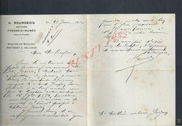 LETTRE DE 1912 G BOURGEOIS NOTAIRE FRESNE SAINT MAMÉS HAUTE SAONE : - Manuscrits