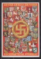 Dt.Reich Reichsparteitag Nürnberg 1938, Farbige Propagandakarte Mit MiNo. 672 SSt Nach Braunschweig - Deutschland