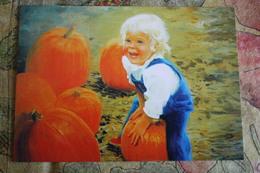 Donald Zolan- Modern Ukrainian Postcard -  Little Boy - Pumpkin - Portraits