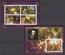 V317 2013 BENIN PRIVATE ISSUE EROTIC ART GOLD PIETRO DA CORTENA 1KB+1BL MNH - Art