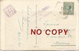 Prima Guerra Mondiale, Censura Posta Civile C82 Brescia 30.5.1918. Sigillo E Autografo Aldo, Ing. Santi Di Vignola. - 1900-44 Vittorio Emanuele III