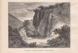 1873 - Gravure Sur Bois - Tournavaux (Ardennes) - La Roche Aux Corpias - FRANCO DE PORT - Prints & Engravings