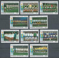 Centrafricaine Rép. YT N°435/444 Coupe Du Monde De Football Espana 82 Neuf ** - Central African Republic