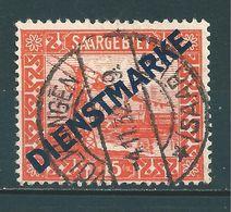 Saar MiNr. D 12 Gestempelt, Plattenfehler IV  (sab32) - Officials