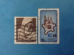 1964 ITALIA FRANCOBOLLI USATI STAMPS USED - MICHELANGELO 30 LIRE + STATI GENERALI 70 LIRE - 6. 1946-.. Republic