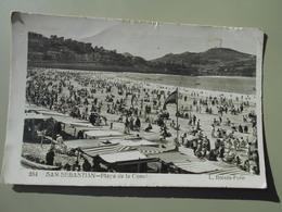 ESPAGNE PAIS VASCO SAN SEBASTIAN PLAYA DE LA CONCHA - Guipúzcoa (San Sebastián)