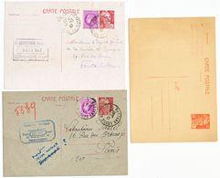 LOT DE 3 X ENTIER POSTAL TYPE GANDON A ETUDIER - Postmark Collection (Covers)