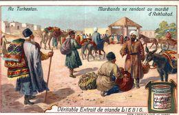 LIEBIG   AU TURKESTAN MARCHANDS SE RENDANT AU MARCHE D ASKHABAD - Liebig