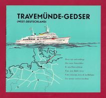 Dépliant Touristique.  Croisière En Baltique.  Travemünde-Gedser. - Dépliants Touristiques